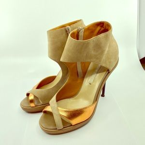 Nicholas Kirkwood suede and leather sandals